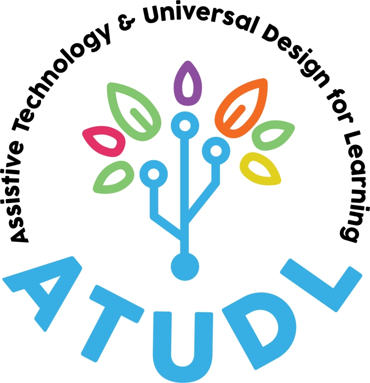 AT UDL Logo. Assistive Technology And Universal Design for Learning with tree of life logo